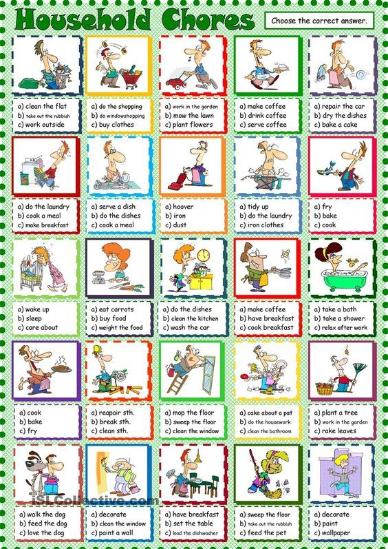 household chores esl printable worksheet of the day on august 22 2015 by seni77