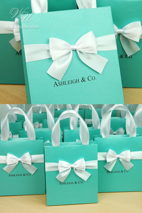 Bridal Shower Gifts Bridesmaid S Mint Gift Bag With Satin Etsy In 2021 Bridal Party Gift Bag Tiffany Bridal Shower Tiffany Bridal Shower Favors