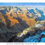 Up Bright Angel Canyon 2015, 33x46