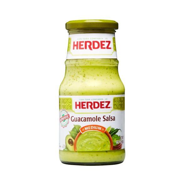 Buy Herdez Guacamole Salsa Medium - Salsa de Guacamole at MexGrocer.com for authentic Mexican salsas sold online nationwide