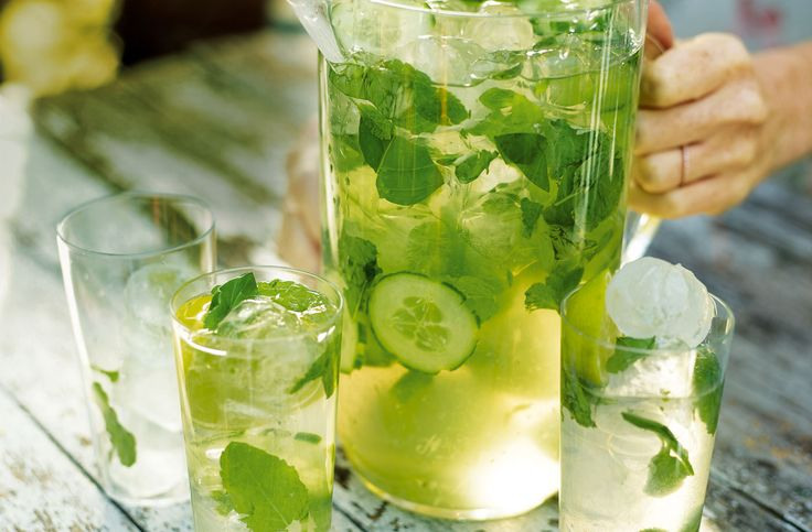 Packed with lime, mint & basil, this thirst quenching green sangria is a perfect summer drink. Find many more summer drink recipes at Tesco Real Food.
