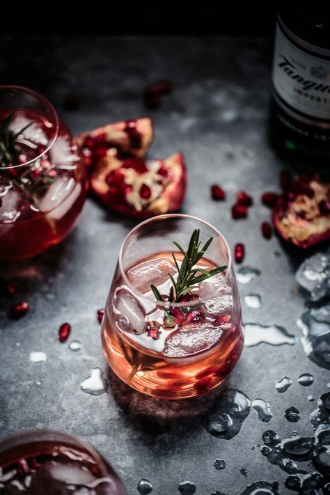 Pomegranate, Rosemary & Gin Fizz