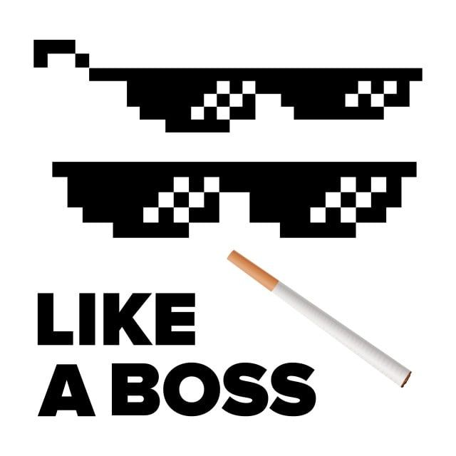Boss Deal Glasses Pixel Meme Thug Funny Gangster Glases Vector Isolated Fun 8 Accessory Art Attractive Beautiful B Like A Boss Logo Reveal Colorful Backgrounds