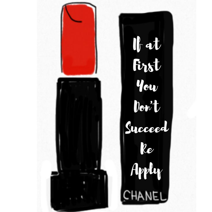 Wallpaper Background iPhone Lipstick Chanel Red Quote If at first you don't succeed re apply