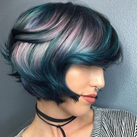 how to style a bob haircut with hair 25 best ideas about multicolored hair on 8764