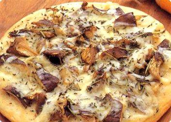 写真:エリンギのピザ