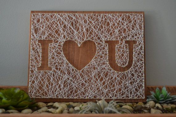 Love String Art I love you String Art Inverse by ShopAmbiguouS