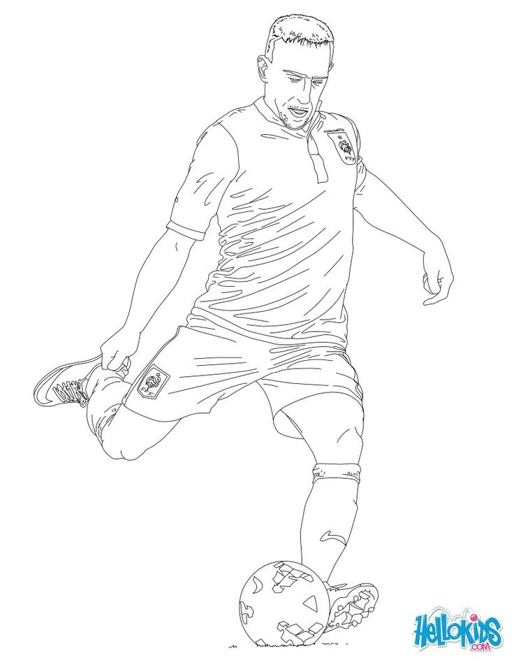 Soccer Coloring Pages SOCCER PLAYERS Franck Ribery