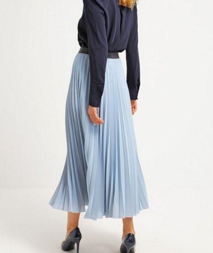 Roberto Collina Spódnica plisowana light blue