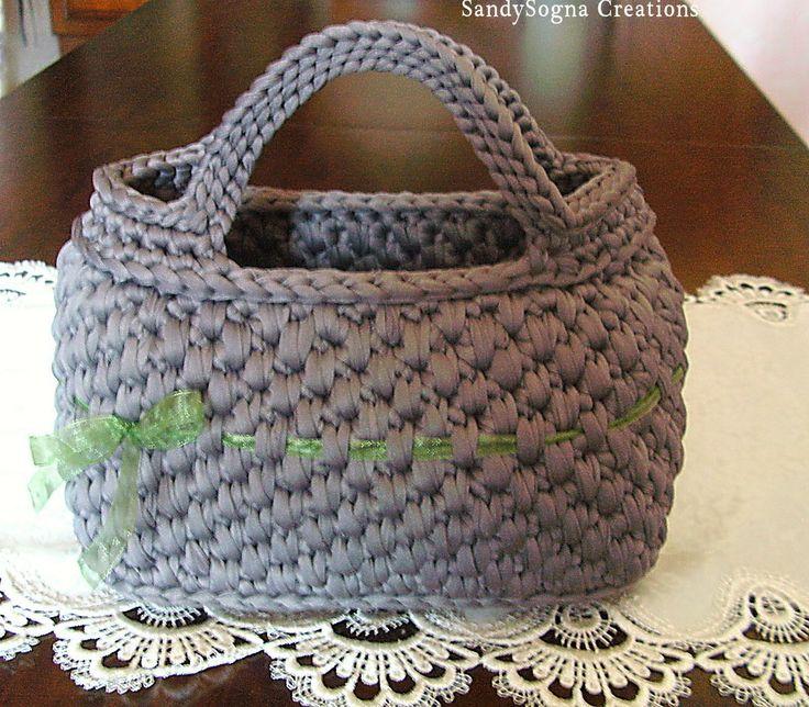 Green Line,borsa in fettuccia fatta a mano..