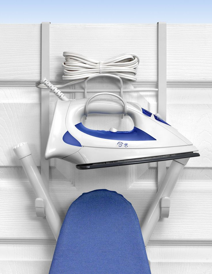 Over The Door Iron And Ironing Board Holder   The Spectrum Diversified 15  In. Over The Door Iron And Ironing Board Holder Is A Convenient Addition To  Your ...