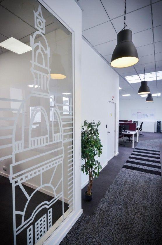 MOSWO | le privé | The Links | agencement | bureaux | design d'espace | vitrophanie | adhésif sablé | Human Nature Collection, Interface
