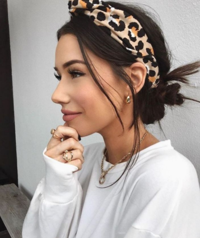 Cute Hairstyles With Headbands Messy Buns Amizades Mundorosa