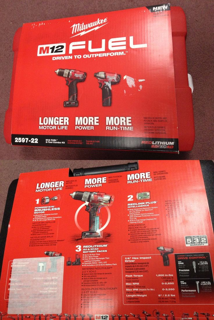 Combination Sets 177000: New - Milwaukee 2597-22 M12 Fuel Hammer Drill Driver And Impact Driver Combo Kit -> BUY IT NOW ONLY: $175 on eBay!
