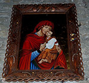 Łopienka, cerkiew - Ikona Matki Boskiej