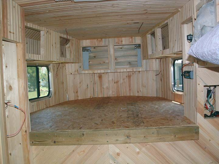 How to build living quarters in a horse trailer. This is an amazing tutorial site on how they did their entire trailer!