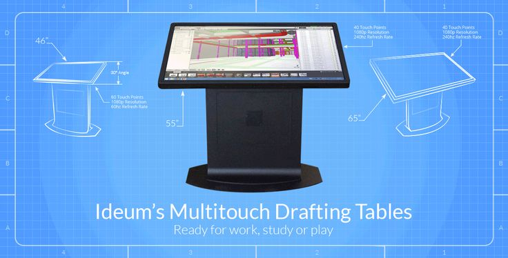Elegant The Platform Multitouch Drafting Tables From Ideum (in 46, 55, And 65 Inch  Form Factors) Have 3M Multitouch Displays Set At A 30 Degree Angle. A Neu2026