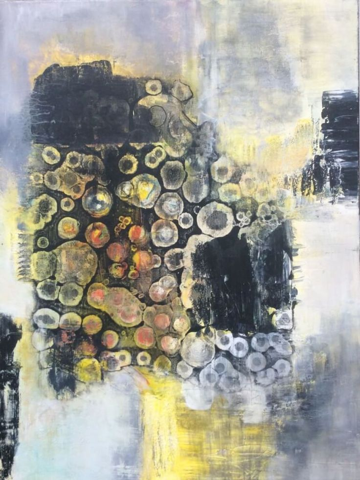 Abstract art, painting 60x80 cm, til salg