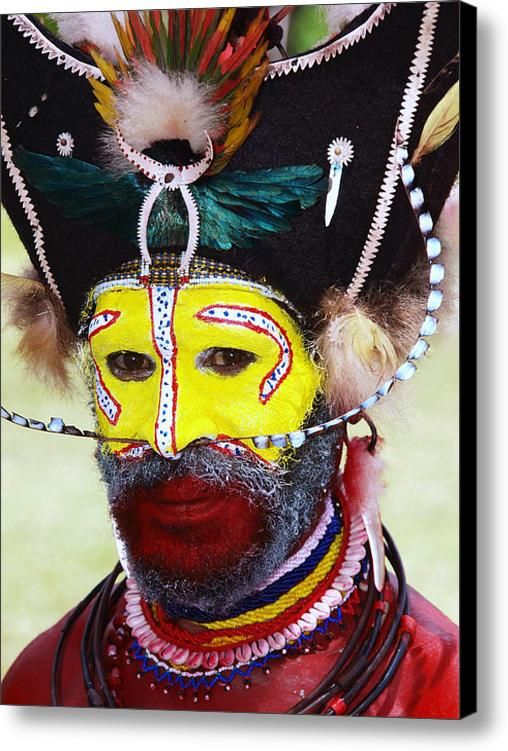 Tribal Face Painting Papua New Guinea