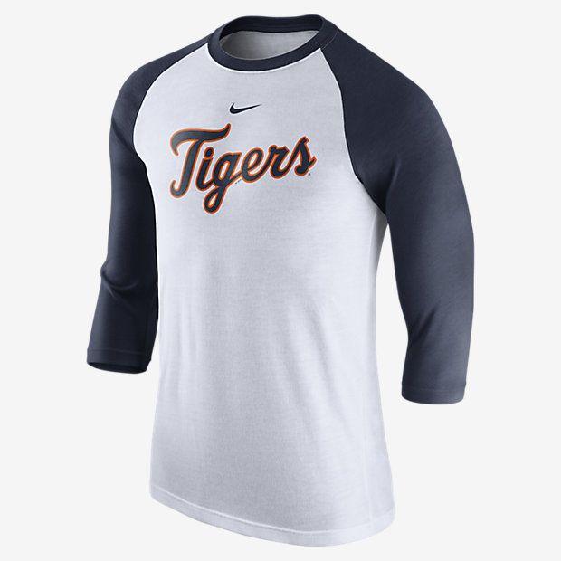 Nike 3/4 Raglan Wordmark (MLB Tigers) Men's Shirt