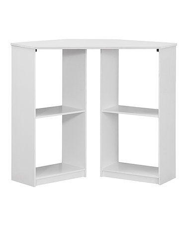 This White Corner Computer Desk is perfect! #zulilyfinds