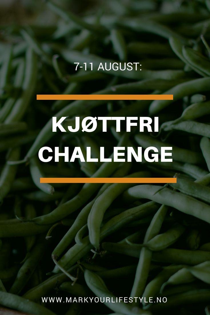 Bli med på Kjøttfri Challenge! Spis mindre kjøtt og spar miljøet, dyrene og få mange helsefordeler.