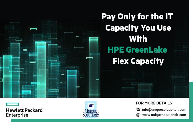 Hpe Greenlake Flex Capacity Provides A Consumption Based It Payment Model That Aligns Cash Flow To Actual Capacity Usage Supercomputer Solutions Cloud Storage