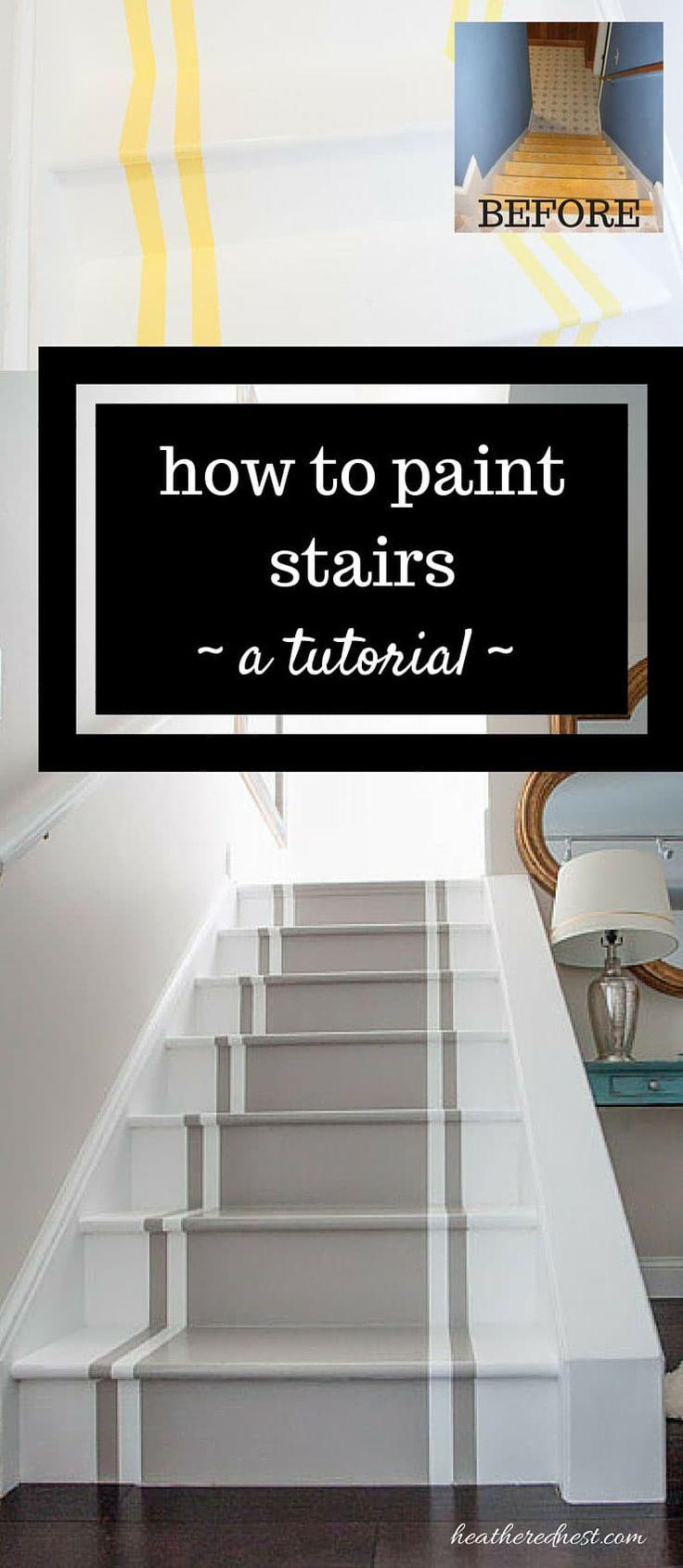 Como pintar escadas. Um tutorial de bricolage.   – Dream home