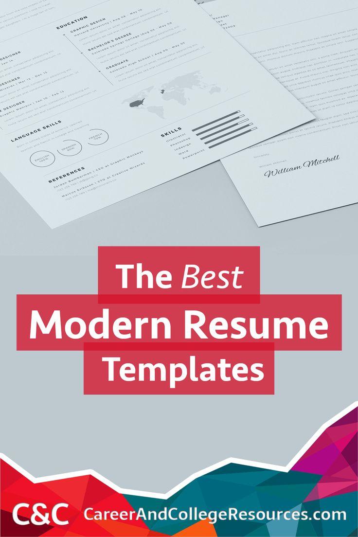 9 Best Modern Resume Templates Images On Pinterest Cover Letter