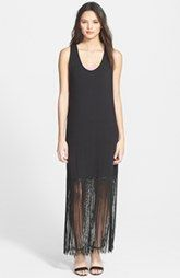 Painted Threads Fringe Hem Maxi Dress