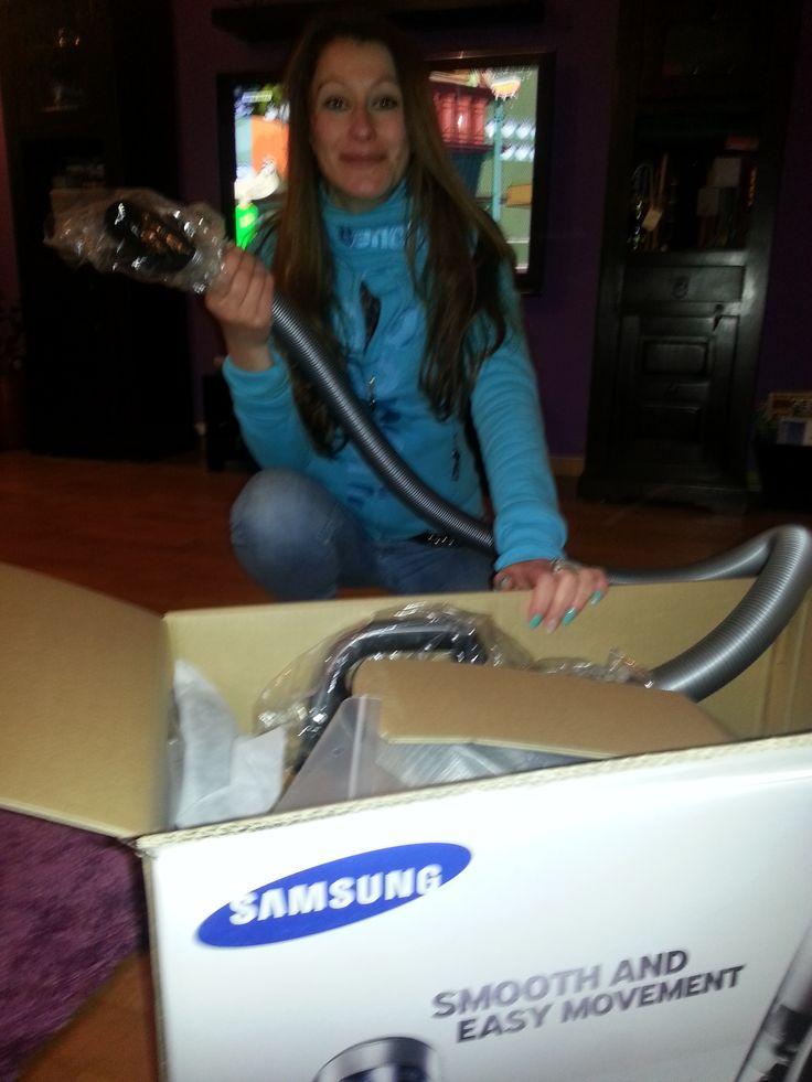 Samsung endlich ausgepackt :-) #SamsungStaubsauger #SamsungMotionSync #Empfehlerin #SamsungStaubsaugerTest