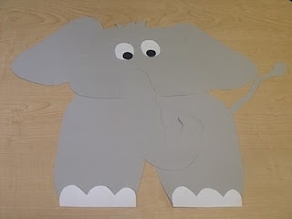 how to make an elephant out of construction paper