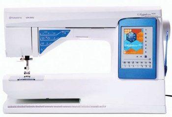 Macchina per cucire Husqvarna Viking Sapphire 960Q - Offre molte funzioni per assistervi e guidarvi nel cucito. Una delle principali è sicuramente il touch screen interattivo a colori con stilo.