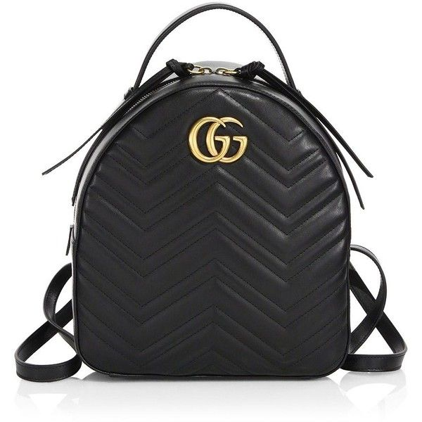 Gucci GG Marmont Chevron Quilted Leather Mini Backpack (14,785 HKD) ❤ liked on Polyvore featuring bags, backpacks, chevron print backpack, mini top handle bag, miniature backpack, quilted leather backpack and chevron backpack