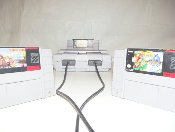 Super Nintendo Game Console SNES Plus 9 Games by HappyCapatiller