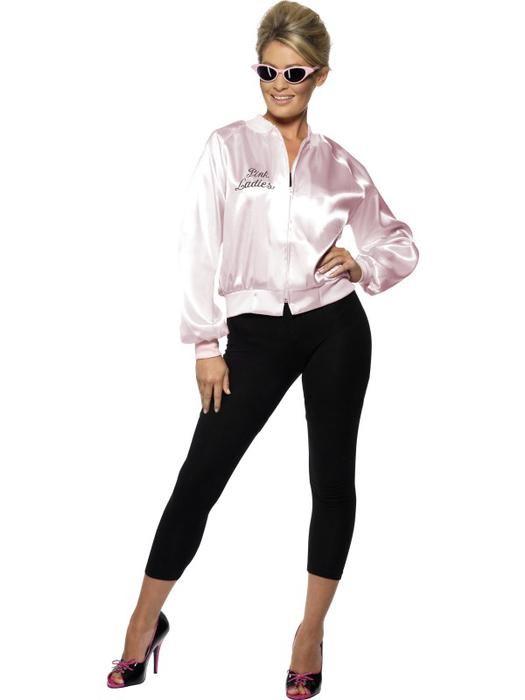 Vrouwen kostuums-Pink lady jasje Grease maat S