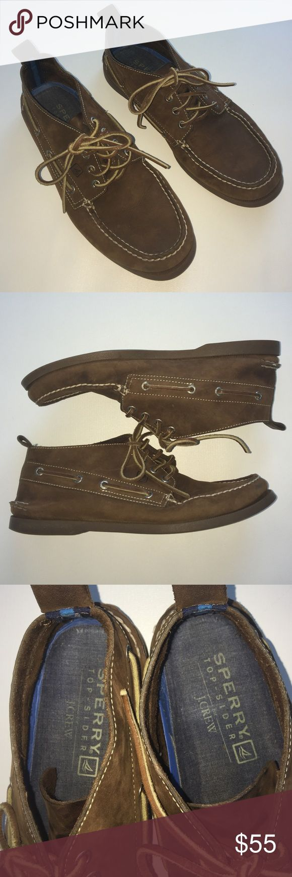 1 DAY SALE J Crew Sperry topsider high-top. Awesome shoes. Lightly worn. Sperry Top-Sider Shoes Boat Shoes