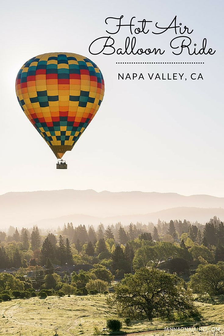 What's the best way to soak in panoramic views of wine country? On a hot air balloon of course! Check out my new blog post to read more about my hot air balloon experience in Napa Valley.  http://jannaonajaunt.com