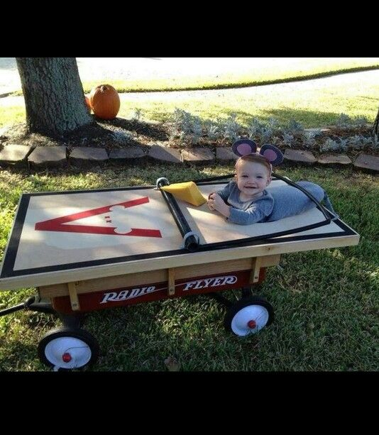 This is so cute!! Halloween kids wagon costume