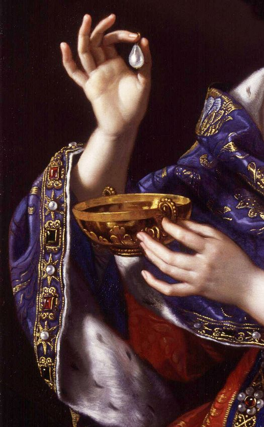 .-detail-. Benedetto Gennari, Marie-Anne Martinozzi, Duchess of Bouillon.