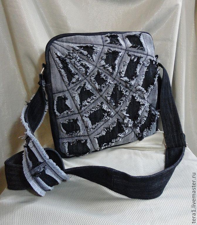Купить Сумка джинсовая Бек Найт - сумка из джинсов, сумка, магазин сумок, сумки женские