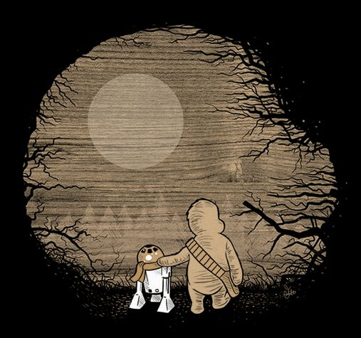 Wookie the Chew - Adorable Star Wars and Winnie the Pooh Parody Art - News - GeekTyrant by James Hance