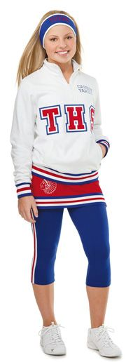 Cooler weather during football season is a given, and it's important to choose gear that still allows you to cheer, dance, stunt and tumble without having to worry about bulkiness or sacrificing fashion.  More info: http://varsity.com/event/1582/art/1638/varsity-spirit-fashion