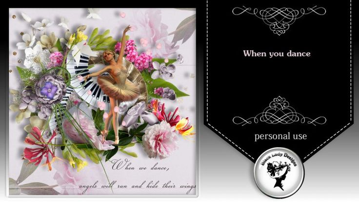 When you dance by Black Lady Designs