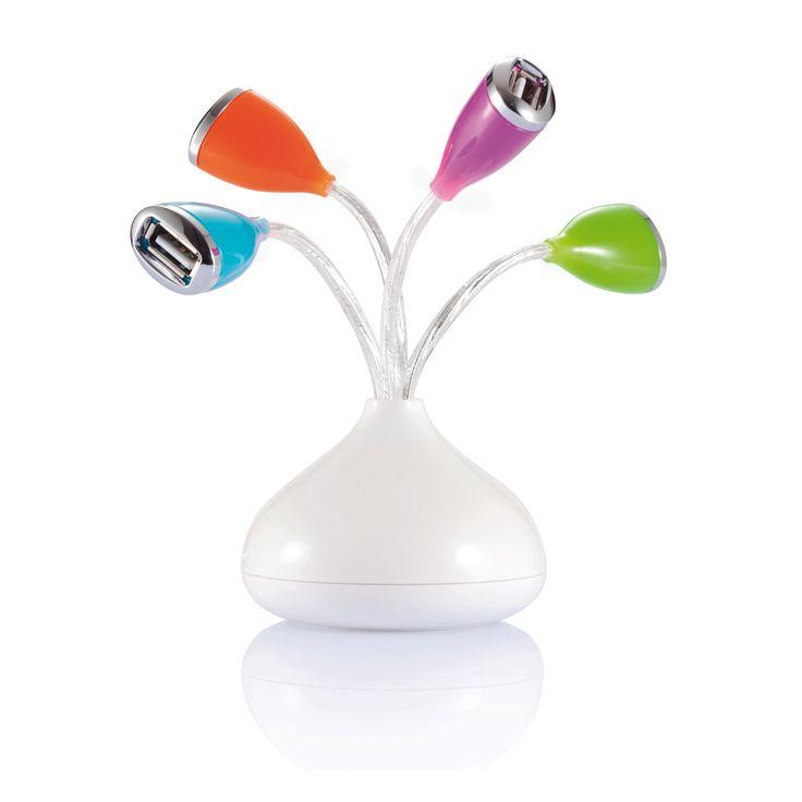 Hub USB w kształcie kwiatków