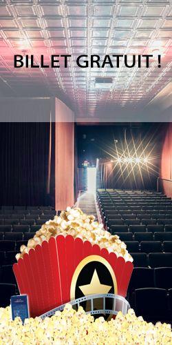 Billet de cinéma gratuit