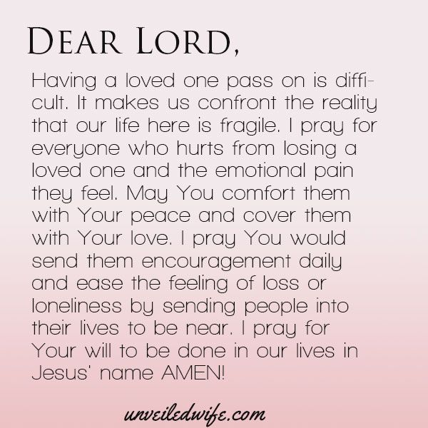 prayer comfort with loss emotional pain lord and peace