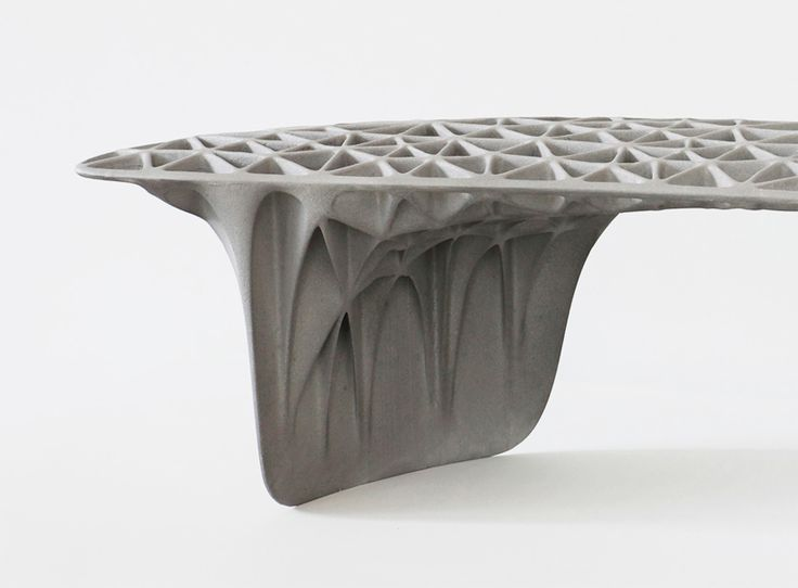 3D printed bench by janne kyttanen featured at galerie VIVID