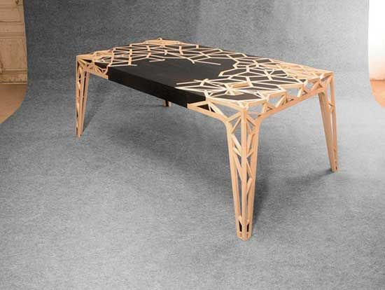 AMAZING Wood Inlay In This Beautiful Table Designed By T