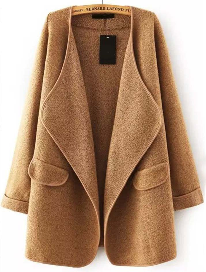 Go On Today Drape Cardigan. One size, camel color